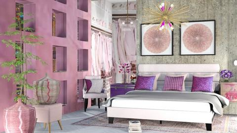 Pink and Purple Bedroom - by Maryjo1965