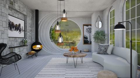 minimalist living room II - Minimal - Living room  - by vxckzz