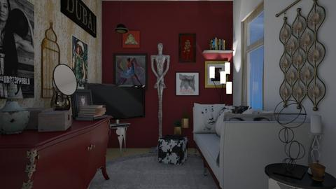 maximalist livingroom - Living room - by allday08