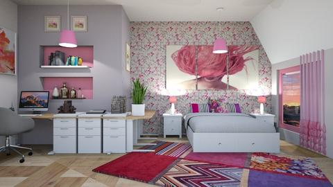 ECLECTIC PINK  ROOM - Modern - Bedroom  - by zayneb_17