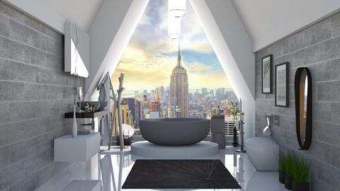 attic bath - Modern - Bathroom  - by soralobo