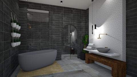 Dark n Moody No2 - Minimal - Bathroom  - by SunflowerStudios