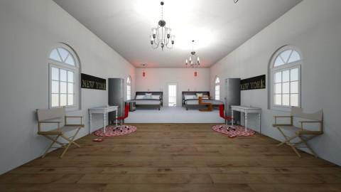 Madison and Saras room - by karissarocks101