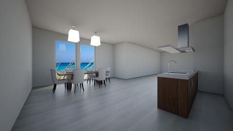 Beach house Kitchen View - Kitchen  - by GraceFilledInteriors