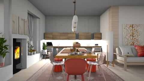 Scandi dining space - Modern - Dining room  - by augustmoon