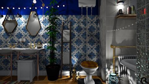 Bohemian Bath  - Bathroom  - by Evgeniya Sinenko