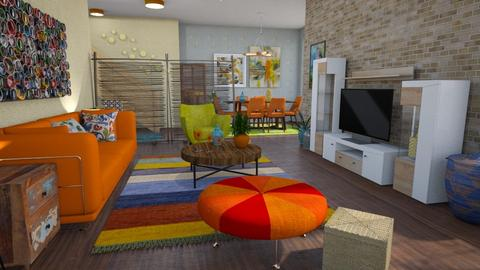 Modern palyfull living - Living room - by Moonpearl