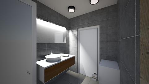 Lazienka 1c - Bathroom - by KatarzynaLaszczyk