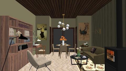 Midcentury Modern House - Eclectic - Living room  - by LaCoune