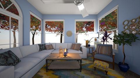 Blush blue living room - Classic - Living room  - by MekhiKalaukoa