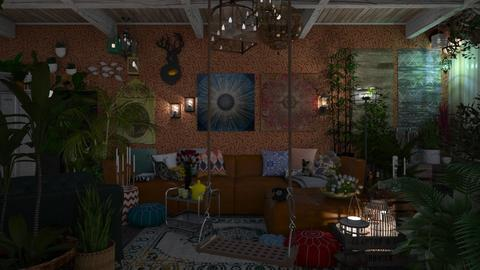BOHO Hippy Chic - Eclectic - Living room  - by HenkRetro1960