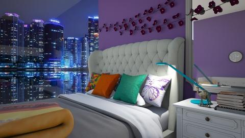 Maximalist Bedroom - Bedroom - by bleeding star