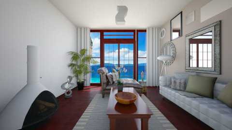 Beach Escape - Retro - Living room  - by Raquel Collison