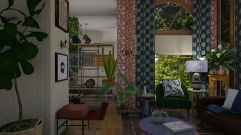Boho Living ReadingGameRm - Eclectic - Living room  - by timeandplace