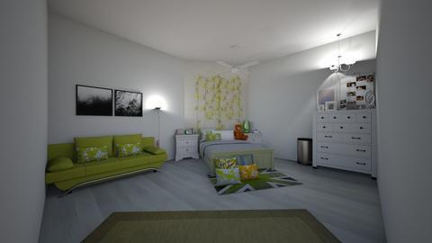 Green Theme Bedroom - Minimal - Bedroom  - by len1924