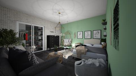 Teen girl bedroom - Feminine - Bedroom  - by Meghan White