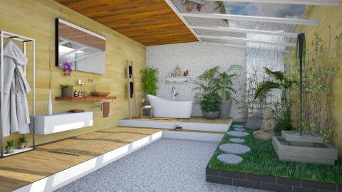Zen  - Modern - Bathroom  - by katarina_petakovi