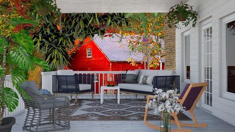Summer Wooden Porch  - by Jasmineconnie
