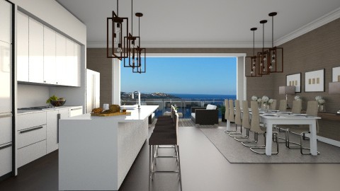 Open Kitchen - Modern - Kitchen  - by Ryan_22_