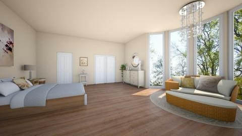 Spacious Bedroom - Feminine - Bedroom - by jokersdaughter669