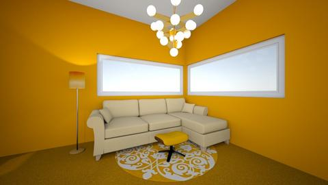 Living room orange - Living room  - by skylarscamman