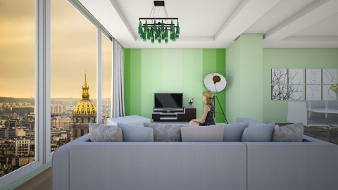 green  - Modern - Living room - by ostwany_aboud