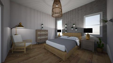 Boho minimal room - Minimal - Bedroom  - by interior_design101