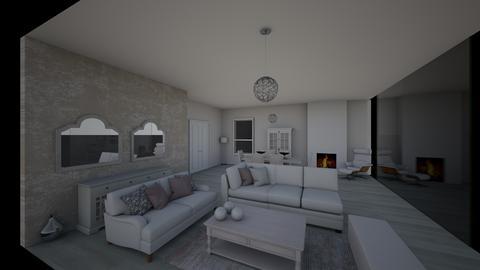 all white - Living room - by edataman