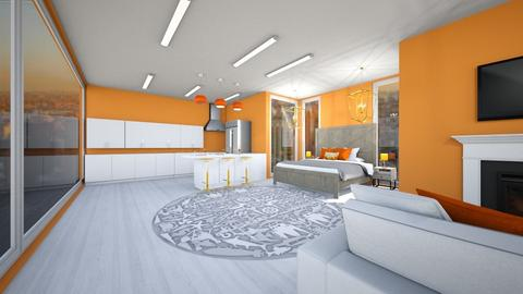 Orange and white apt - Modern - by Agamanta