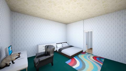 TheLittleKittyD3m0nSleepz - Bedroom  - by K1teeD3m0n