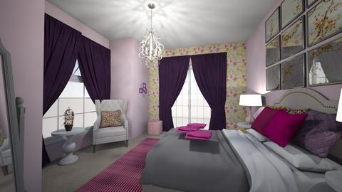 pink guest bedroom - Bedroom  - by IdavB