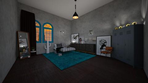 Industrial bedroom - Bedroom  - by RoomstylerNona