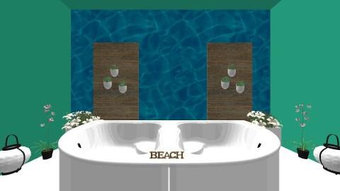 beach - Bathroom - by selina_halland