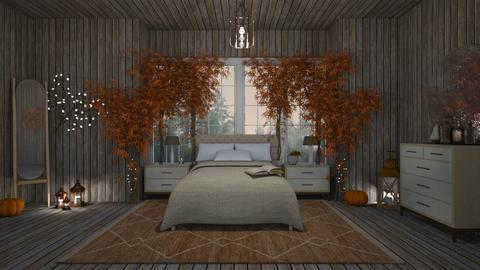 Autumn Room - Bedroom  - by ElenaSpr