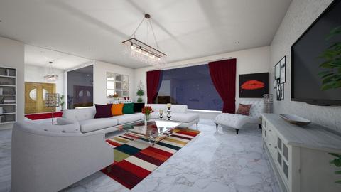 rojo para la puerta noche - Living room  - by virgen