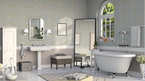 Swan Bathroom - Bathroom  - by Sally Simpson