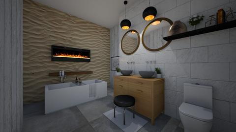 bohemian bathroom - Retro - Bathroom  - by absarecool