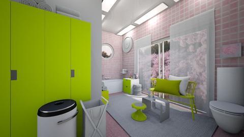 Cherry Blossom Bathroomer - Bathroom  - by Saoirsae