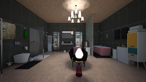 Rose Gold Black Bathroom  - Modern - Bathroom - by Ravina_9069