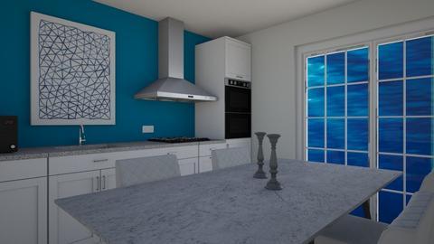 Ocean inspired kitchen - Kitchen  - by Corzer