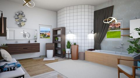 MCM Bathroom - Modern - Bathroom  - by Isaacarchitect