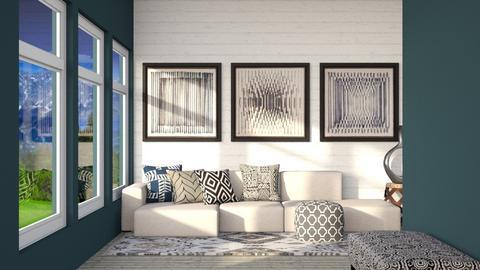Grey - Modern - Living room  - by CitrusSunrise