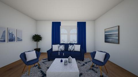 Blue modern living room - Living room  - by Tanem_Cagla