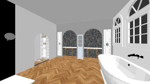 Suite Bath Back Wall - Bathroom  - by nanooks7