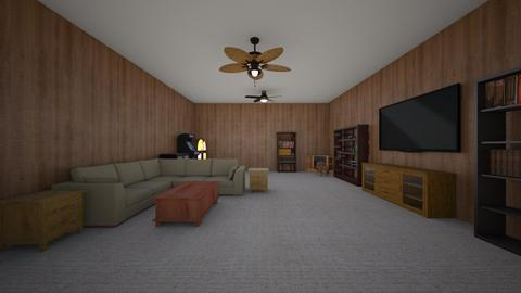 Basement Room - Living room  - by mspence03