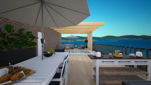 rooftop terrace - by Tanem Kutlu