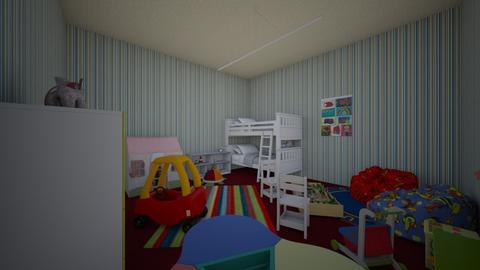 Twin Toddlers Bedroom - Vintage - Kids room  - by rainbowcrayz