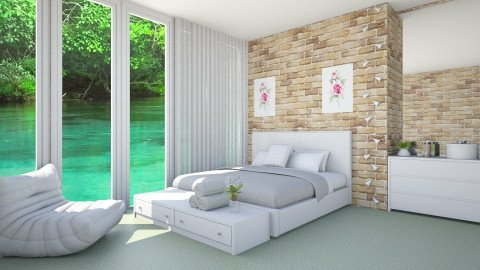 Quarto Fresh e Moderno - Modern - Bedroom - by Mayara Pedreira