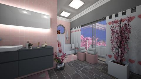 Matilda's Cherry Blossom Bathroom - Bathroom  - by Matilda de Dappere