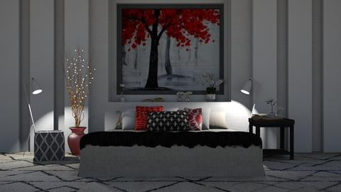 Red - Modern - Bedroom  - by millerfam